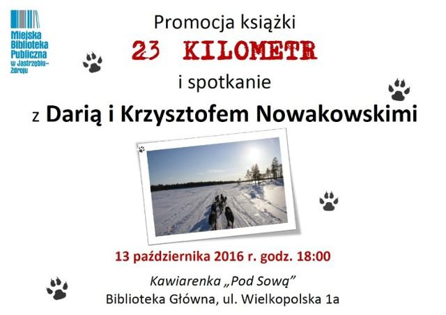 """Spotkanie z autorami książki """"23 kilometr"""" w bibliotece"""