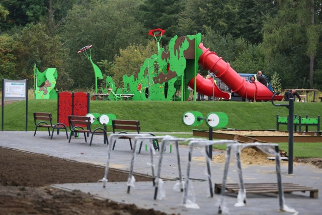 Nowy plac zabaw w Parku Śląskim