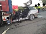 Zobacz zdjęcia z tragicznego wypadku BMW pod Wrocławiem