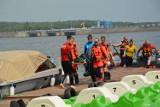 Odprawa służb na rozpoczęcie sezonu letniego nad wodą nad Zalewem Sulejowskim w Smardzewicach [ZDJĘCIA, FILM]