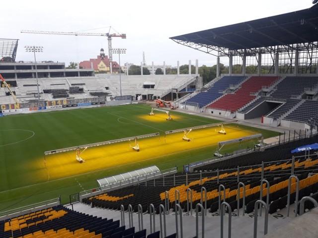 Stadion Pogoni Szczecin - stan prac na 21 września 2021.