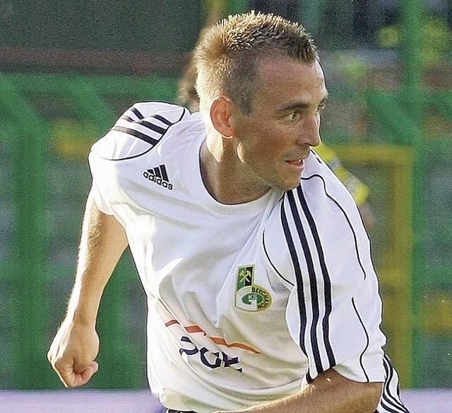 Tomasz Wróbel wyróżniał się w sobotnim sparingu z ŁKS