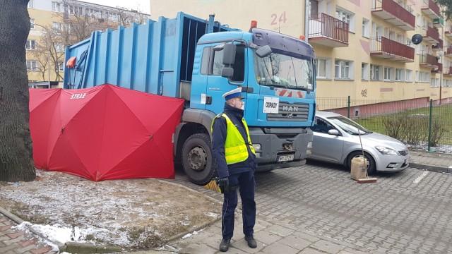 Śmiertelne potrącenie przez śmieciarkę na Hipotecznej w Łodzi