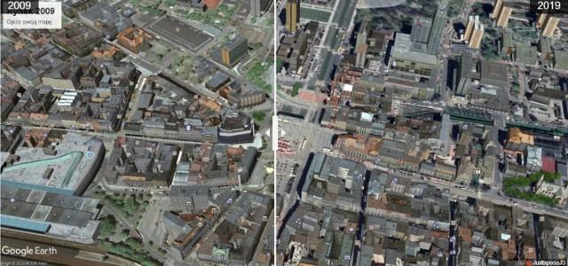 Rynek w Katowicach na zdjęciach Google Earth