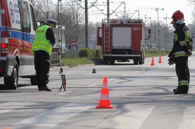 Śmiertelny wypadek na przejściu dla pieszych we Wrocławiu. Zdjęcie ilustracyjne