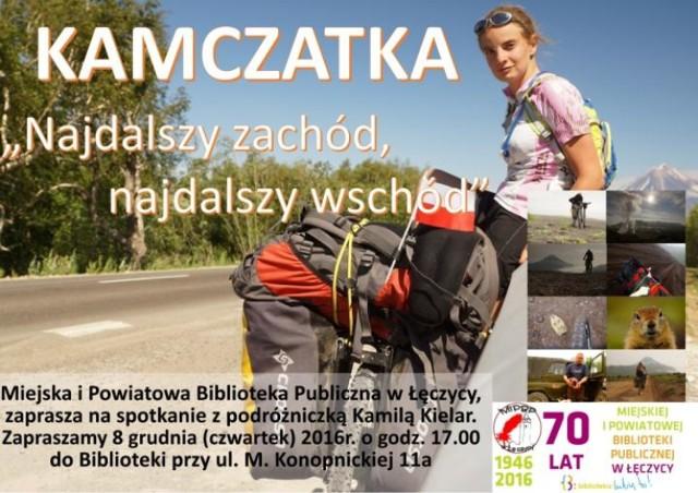 Dziś spotkanie z Kamilą Kielar w łęczyckiej bibliotece