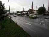 Zderzenie tramwaju linii 7 z samochodem osobowym na ul. Energetyków w Szczecinie