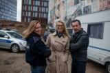 """Katarzyna Bonda znów zjawiła się w Łodzi, tym razem na planie serialu TVN. Zobaczcie kto pojawi się w obsadzie serialu """"Lampiony"""""""