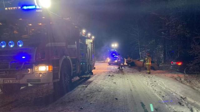 Wypadek w Świerczynie w podkaliskiej gminie Brzeziny