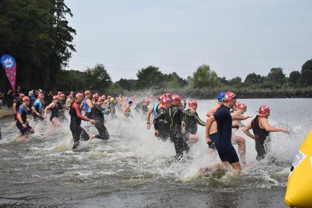 Chętnych do rywalizacji w żorskim Cross Triathlonie nie brakowało.