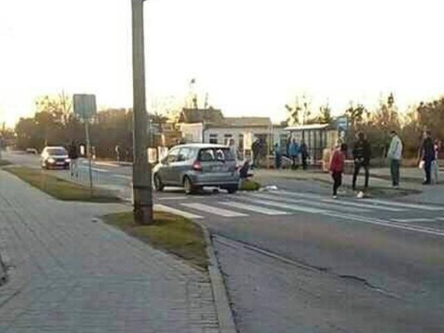 Zdjęcie zrobione tuż po wypadku