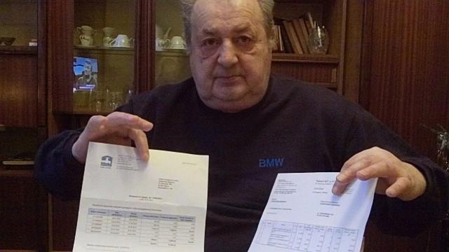 - Nie mam z czego zapłacić 9375 złotych za ogrzewanie - mówi pan Zbigniew