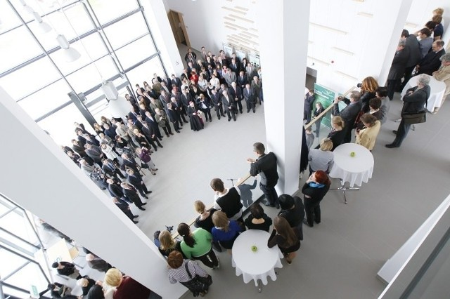 Otwarcie biocentrum Uniwersytetu Przyrodniczego w Poznaniu.