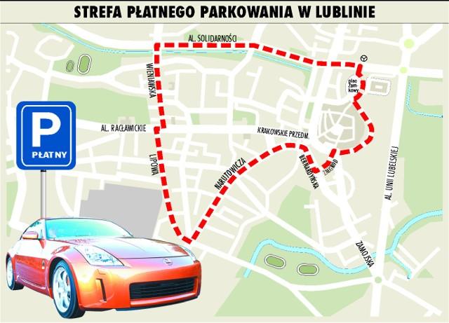 Strefa płatnego parkowania w Lublinie