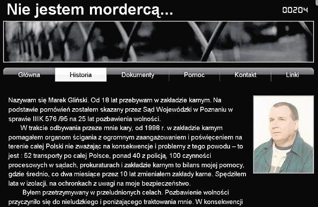 W internecie jest strona poświęcona Markowi Glińskiemu. Utrzymuje, że nie jest mordercą.