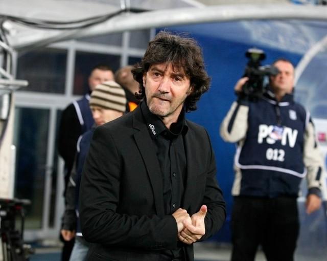Jose Maria Bakero, trener Lecha Poznań.