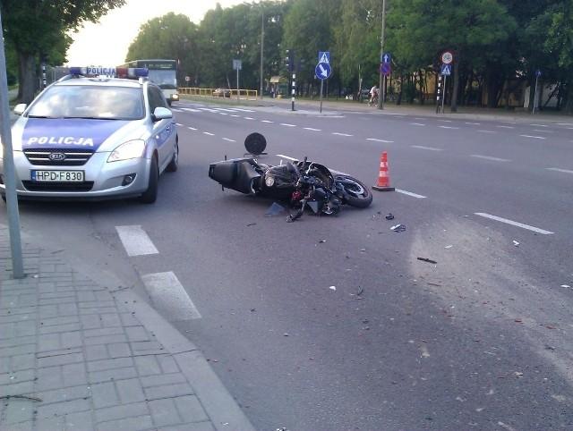 Wypadek w Chełmie: Zderzenie motocykla z samochodem osobowym