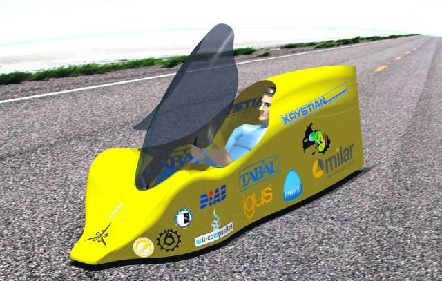Elektryczny samochód studentów Politechniki Lubelskiej w Centrum Nauki Kopernik