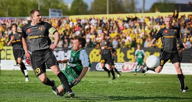 Defensywa kieleckiej Korony okazała zbyt mocna dla piłkarzy GKS-u Katowice