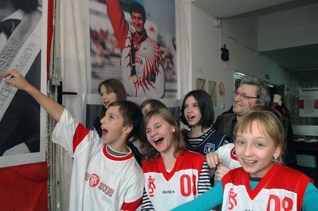 Młodzi kibice ŁKS w Muzeum Sportu i Turystyki