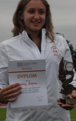 Malwina Kopron (Wisła Puławy) nie miała sobie równych w rzucie młotem i rzucie oszczepem