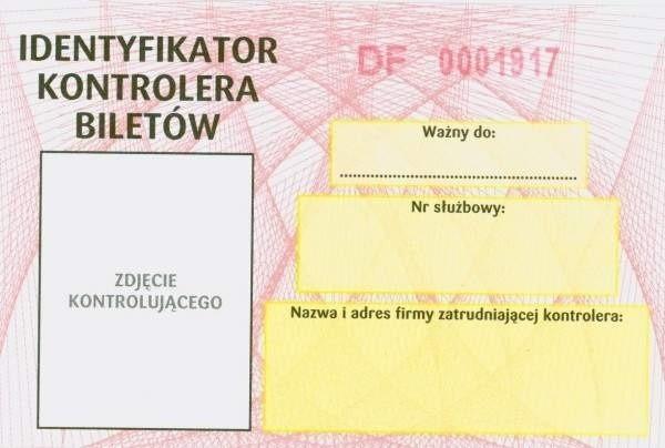Tak wygląda prawdziwy identyfikator kontrolerów MPK Łódź