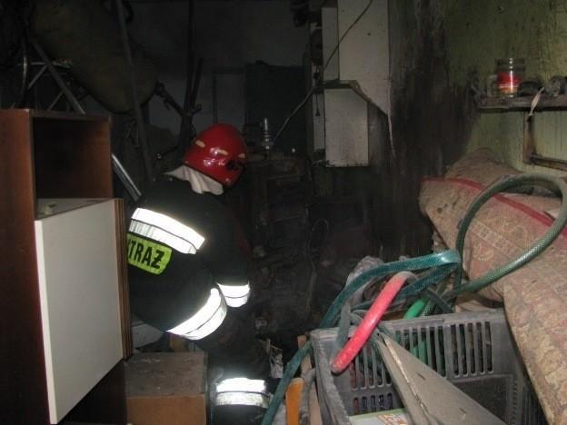 Piec wybuchł w kotłowni przyległej do jednego z mieszkań