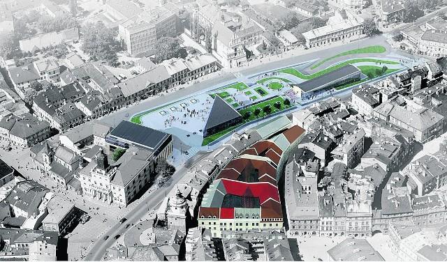 Projekt kompleksu, który ma powstać w centrum Lublina