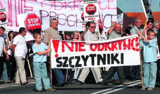 Ubiegłoroczne protesty przeciwników odkrywki. Teraz ludzie znowu wyjdą na ulicę