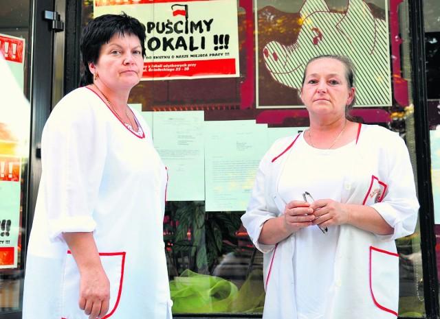 Irena Gąsiorek (z lewej) i Jadwiga Zgrajek nie opuszczą zajmowanych lokali