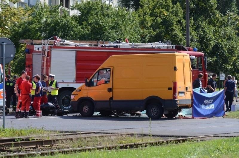 Dwóch motocyklistów zginęło na miejscu w wypadku na ul. Zamenhofa w Poznaniu.