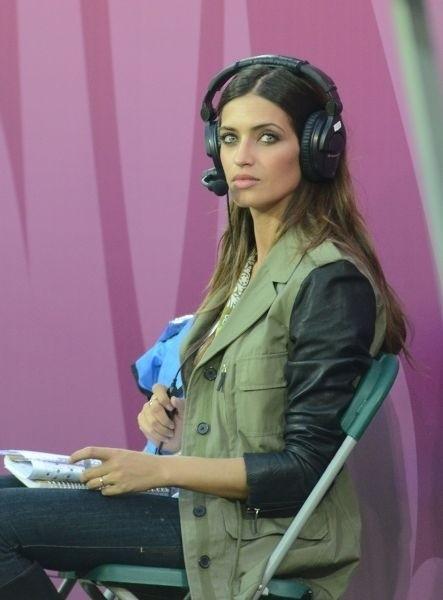 Sara Carbonero podczas meczu Euro 2012