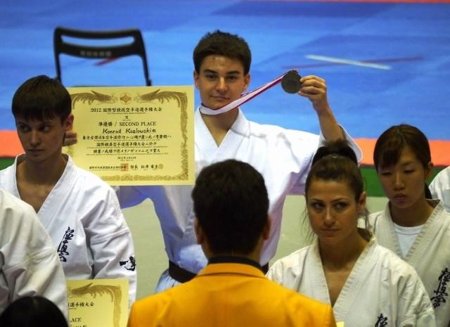 Konrad Kozłowski (Lubelski Klub Karate Kyokushin) zanotował znakomity występ w japońskim mistrzostwach