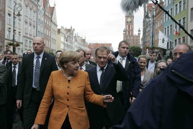 Angela Merkel podczas wizyty w Gdańsku w 2008 roku