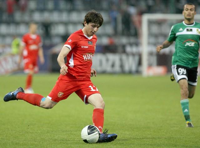 Dzalamidze debiutował w Widzewie w meczu z Korona Kielce