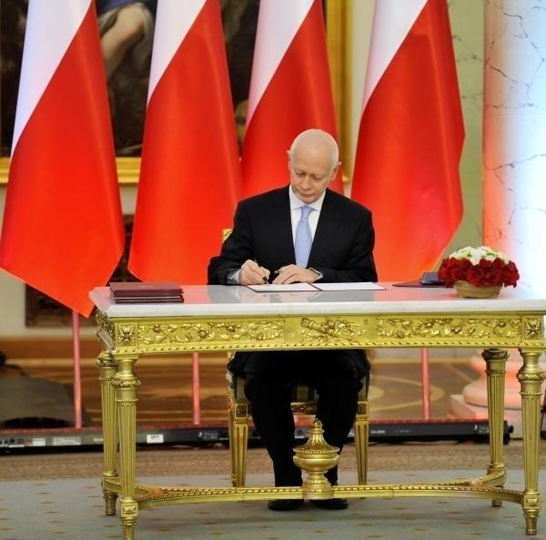 Minister Administracji i Cyfryzacji - Michał Boni na uroczystości zaprzysiężenia nowego rządu