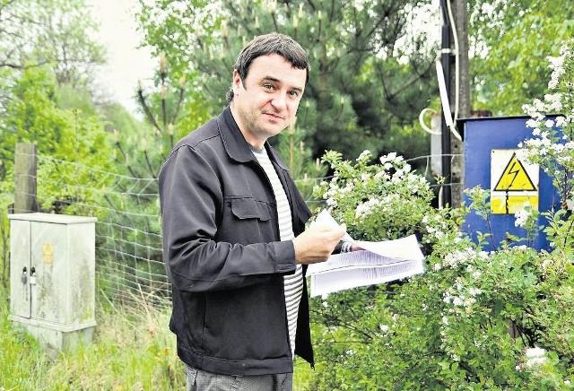 - W 2006 roku podpisałem umowę z Eneą, ale przyłącza w moim domu nie ma do dziś - mówi Maciej Michalski