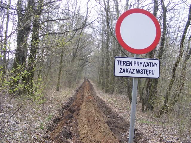 Zaorana ścieżka rowerowa