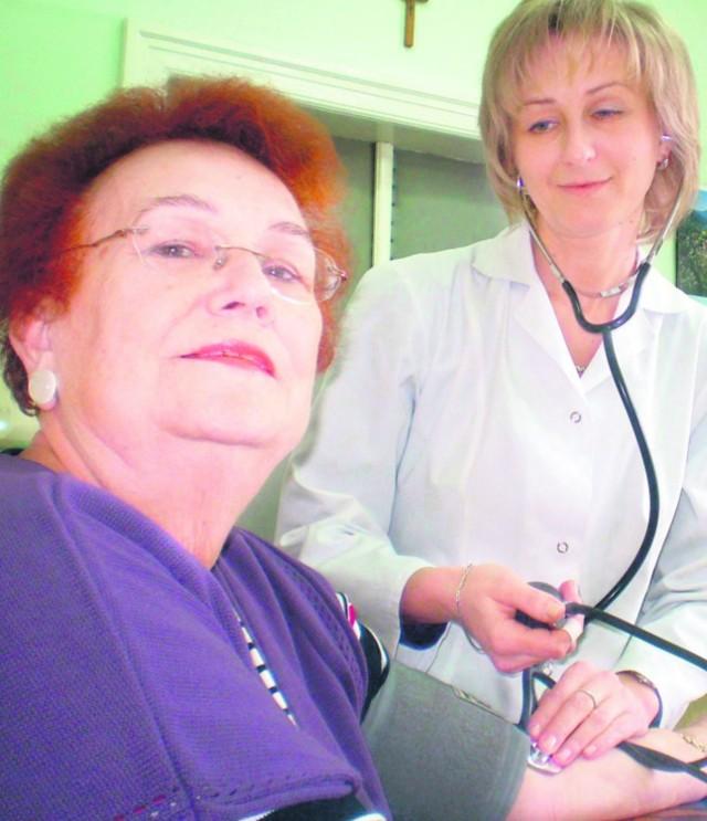 Jadwiga Spiechowicz z Chrzanowa skorzysta z bezpłatnego badania ciśnienia