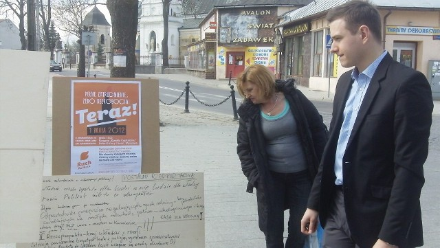 Poseł Michał Kabaciński na spotkaniu z mieszkańcami Kraśnika