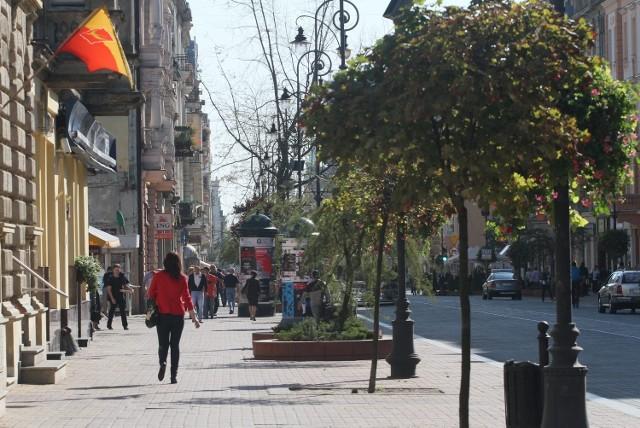 Duża część powieści jest poświęcona centrum Łodzi