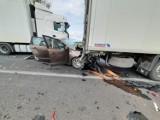 Groźny wypadek na DK 92 w okolicach Gaju Wielkiego [ZDJĘCIA]