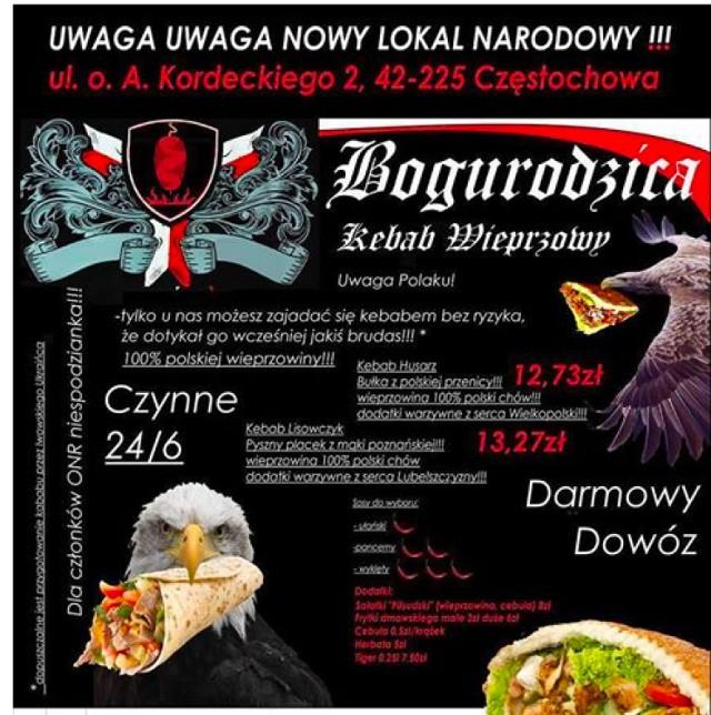 Kebab Bogurodzica Pod Jasna Gora Dla Czlonkow Onr Cebulka Gratis To Zart Czestochowa Nasze Miasto