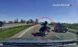 Ku przestrodze! Zobacz WIDEO z wypadku motocyklisty w Śląskiem. Przerażające! Tragiczny początek sezonu motocyklowego w regionie