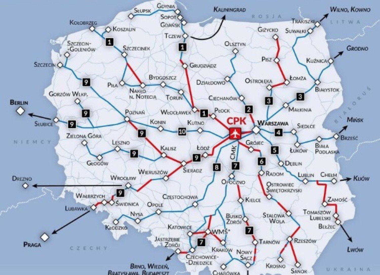 Lomza Na Kolejowej Mapie Centralnego Portu Komunikacyjnego Lomza