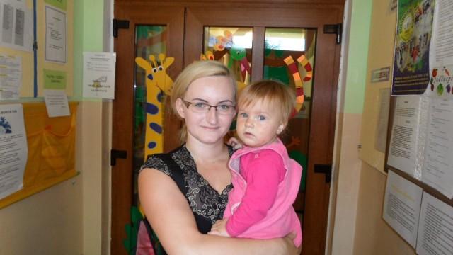 Małgorzata Kuczera z córką, która za 2 lata pójdzie do przedszkola