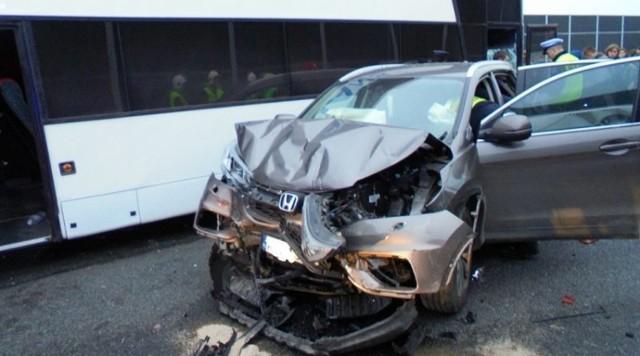 Wypadek na autostradzie w Damienicach,4 XI 2018