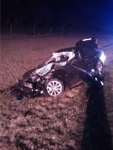 Wypadek BMW na autostradzie [ZDJĘCIA]