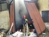 Pożar odpadów w Zawierciu: pali się teren po byłej Fabryce Opakowań Blaszanych