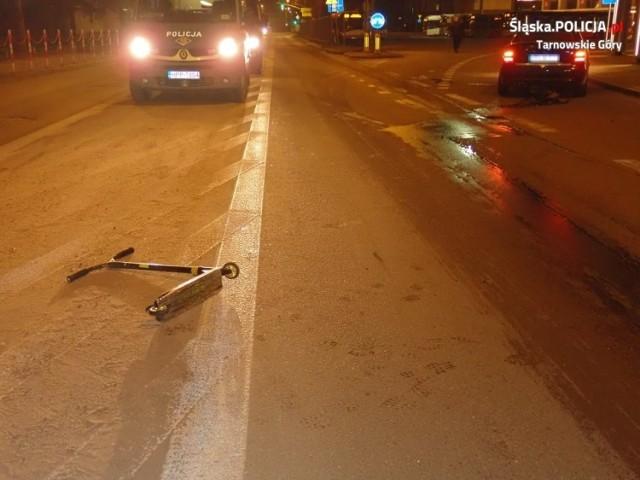 Dwa wypadki na hulajnogach w Tarnowskich Górach. Dzieci wjechały pod koła samochodów